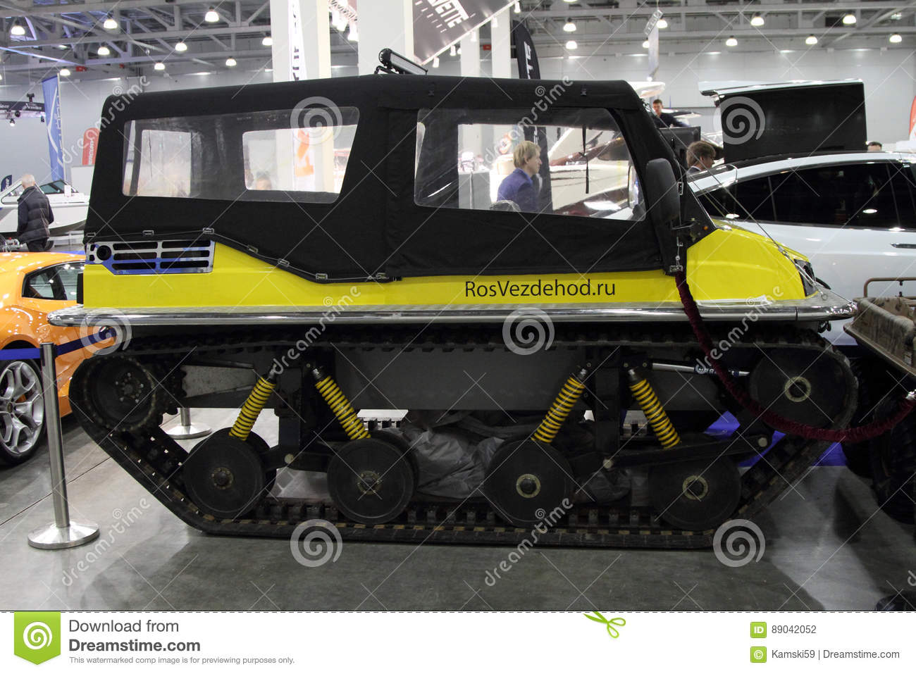 Russian all-terrain vehicle Terranica Dreamtrack with plastic tracks, which will take place anywhere 83