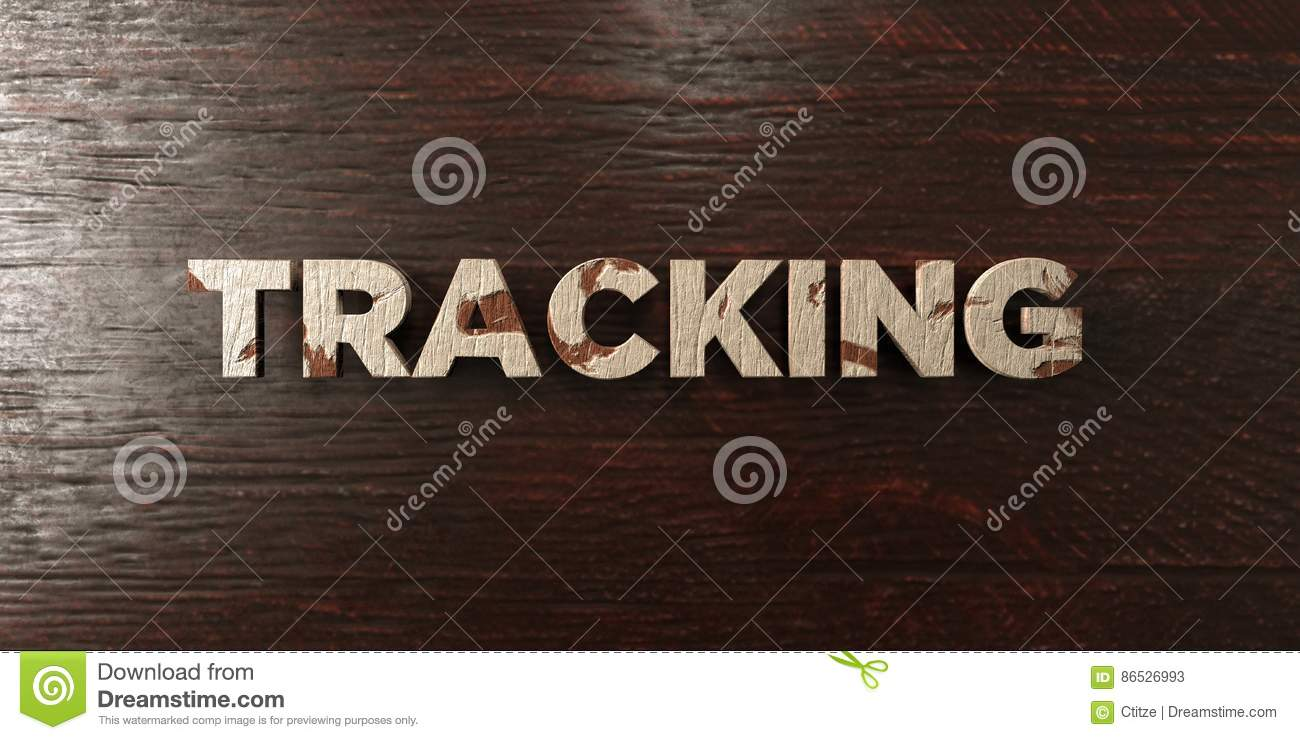 tracking grungy wooden headline on maple 3d rendered royalty