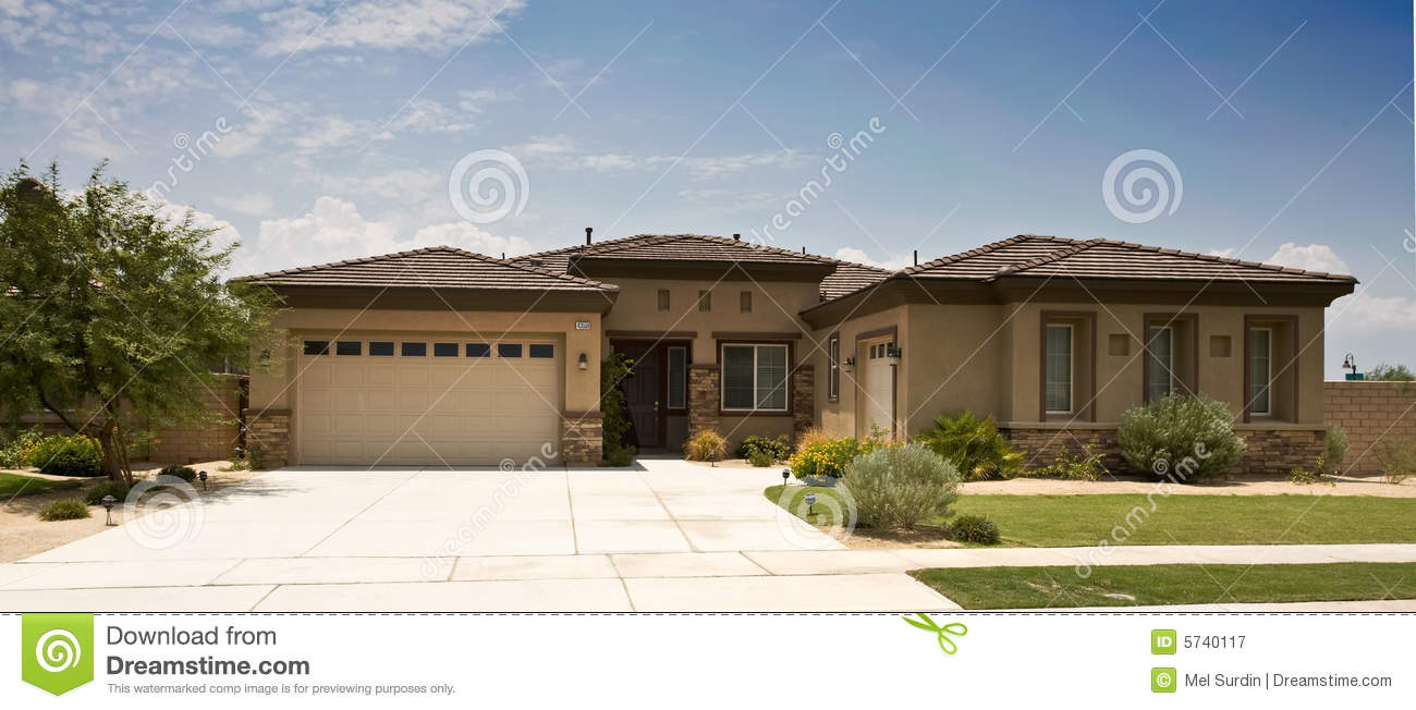 Tract home modern southern california royalty free stock for Modern homes southern california