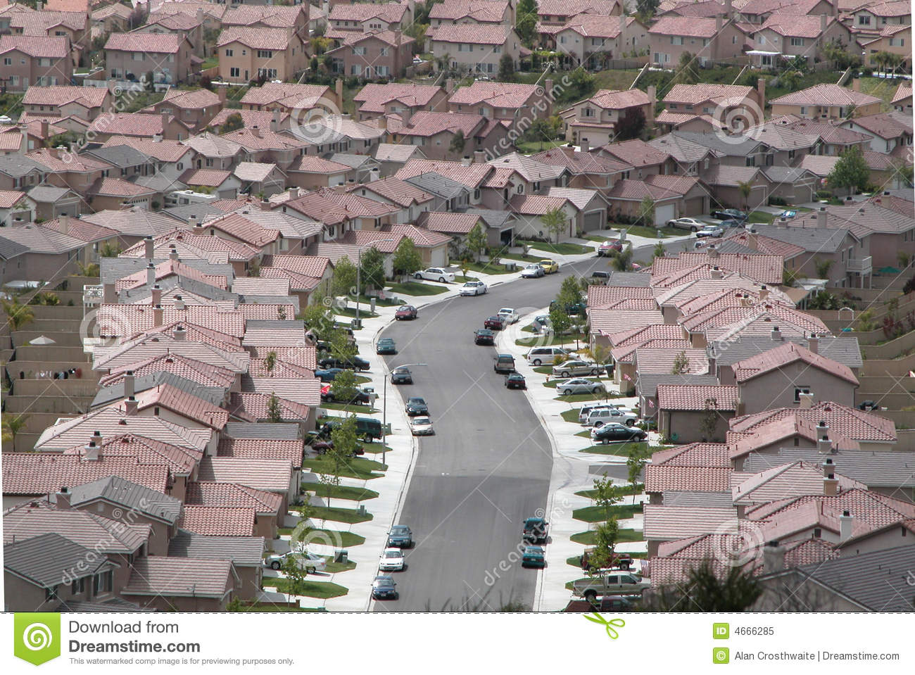 Tract housing stock image image of communities streets for Tract home builders