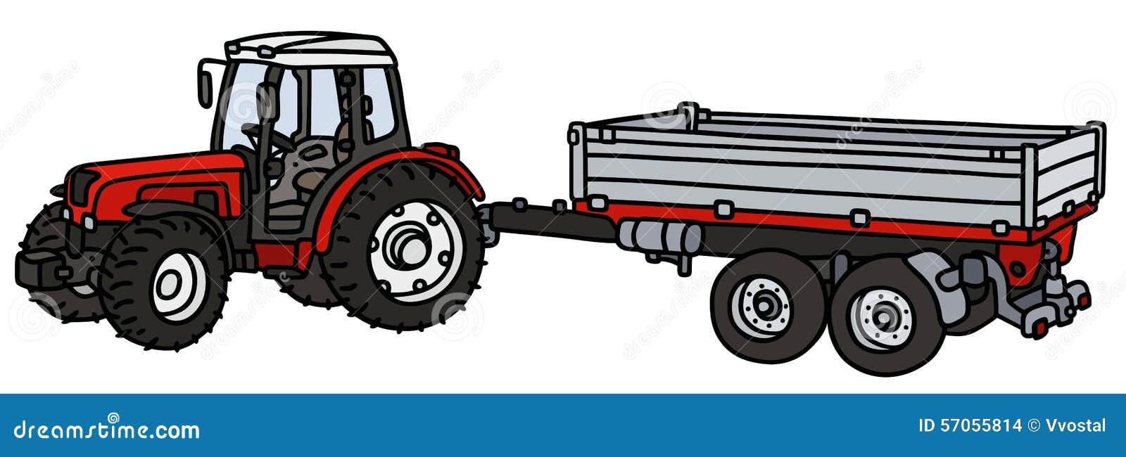 tracteur avec une remorque illustration de vecteur illustration du incliner 57055814. Black Bedroom Furniture Sets. Home Design Ideas
