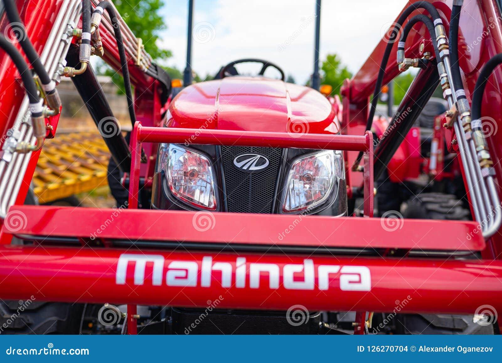 Tracteur de Mahindra, vue de face