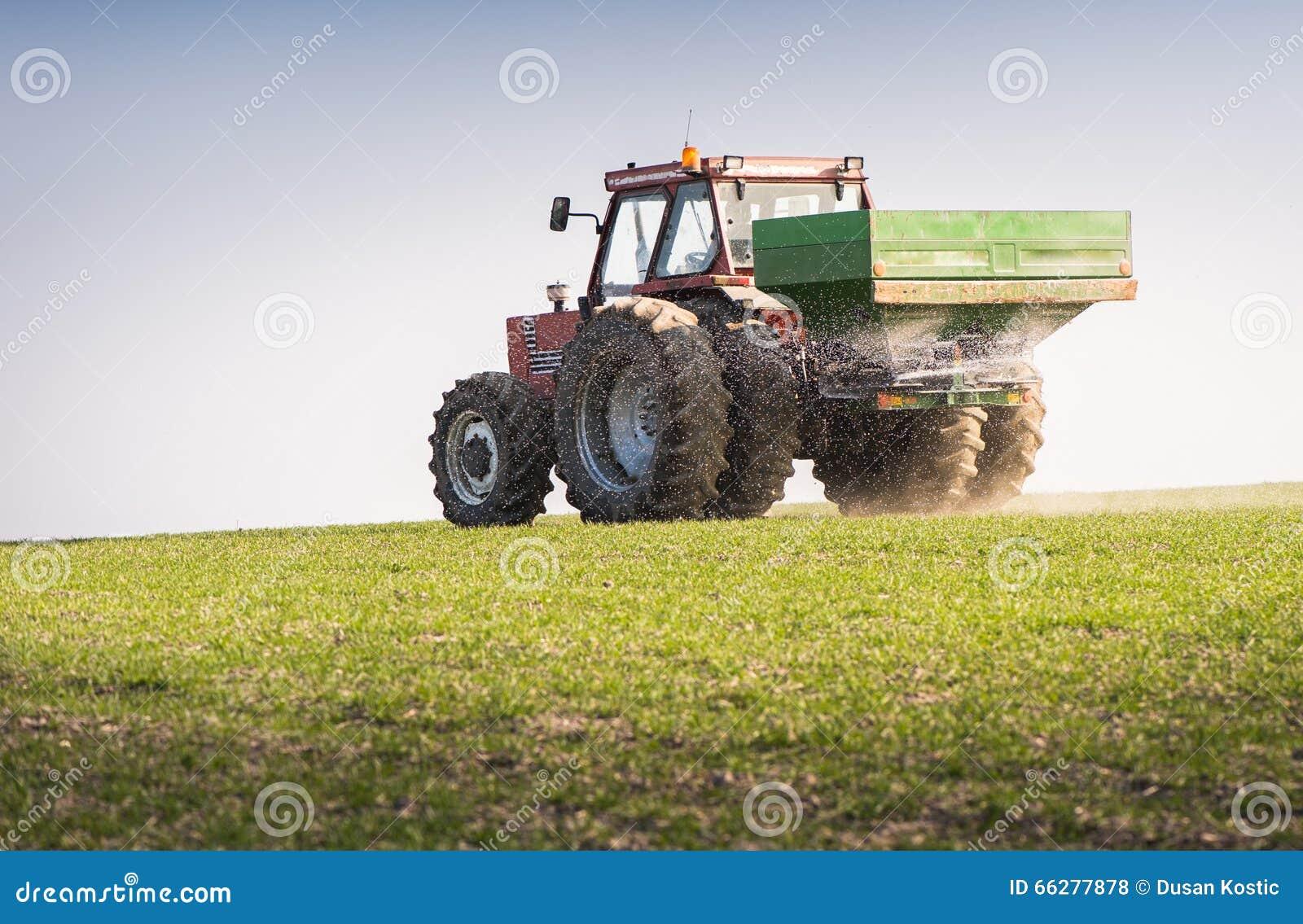 Tracteur et engrais