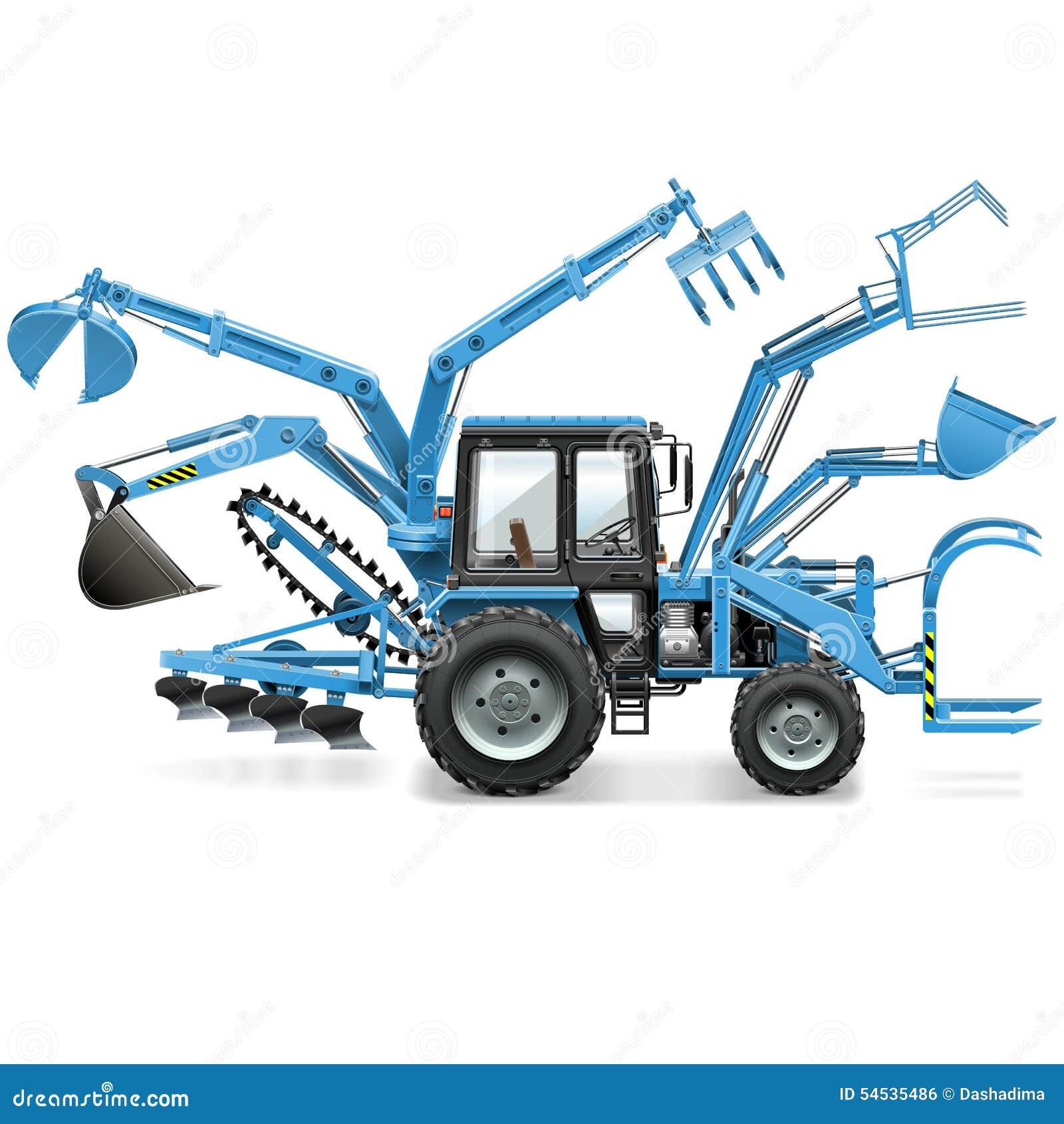 Tracteur multi de vecteur