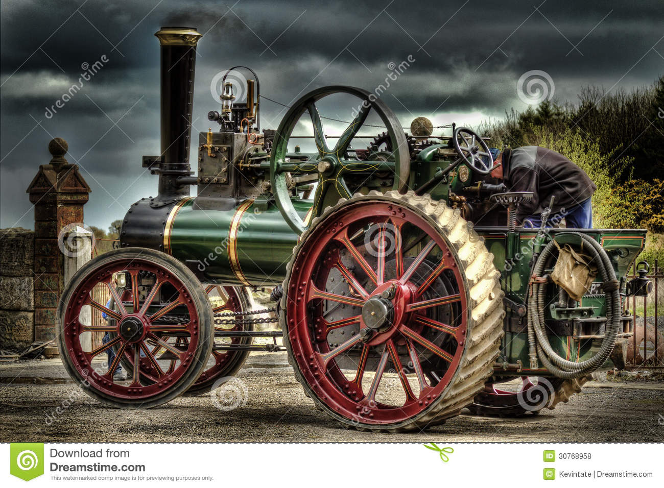 Download Traction Engine stock photo. Image of agriculture, ploughing - 30768958