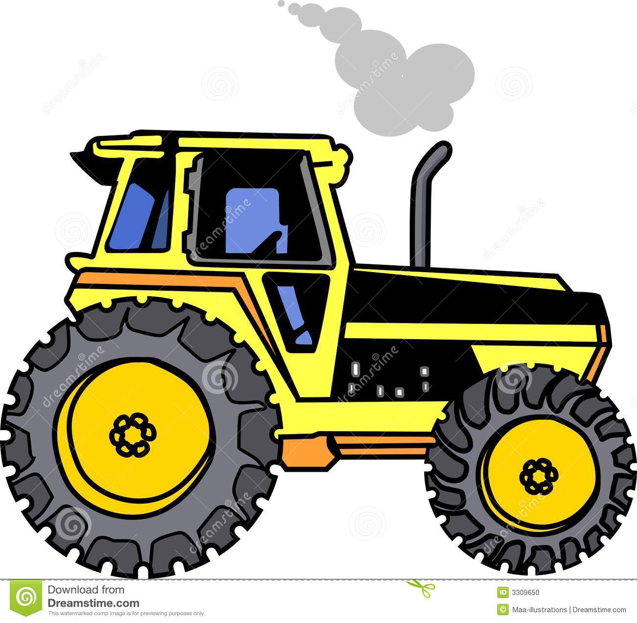 Yellow Tractor Clip Art : Tractor stock photo image