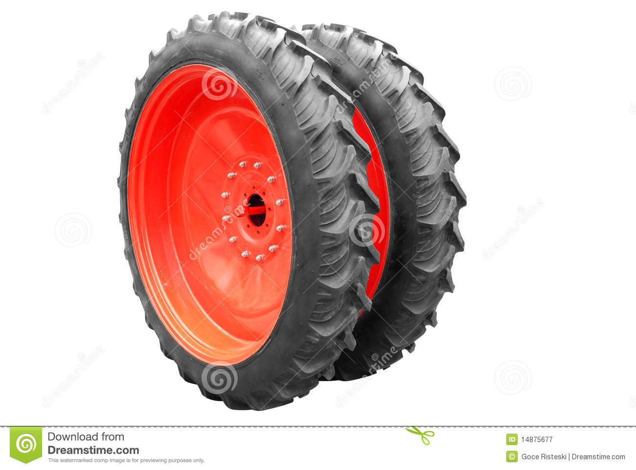 Large Tractor Wheels : Big tractor tire isolated royalty free stock photo