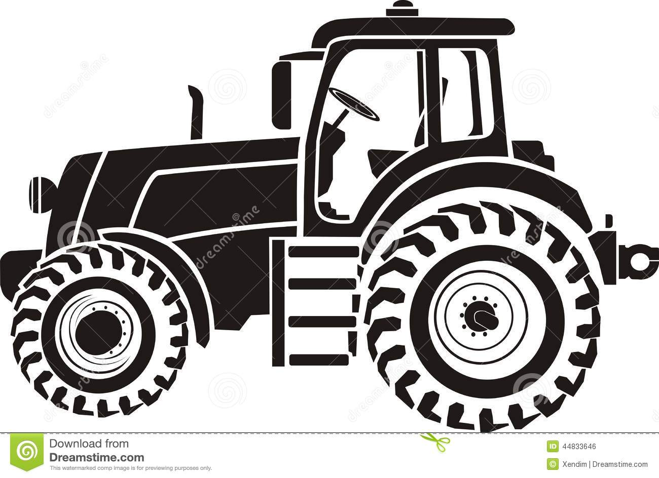 tractor stock vector image 44833646 john deere tractor clip art black and white john deere tractor clipart black and white