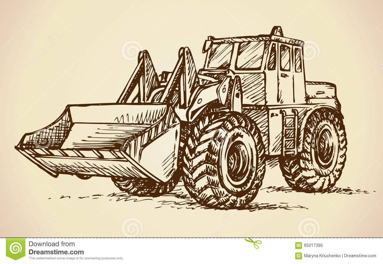 International tractor drawing