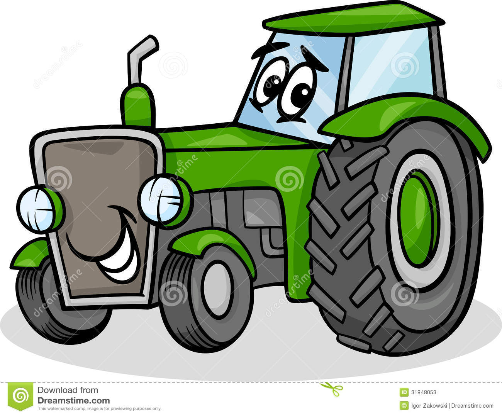 Cartoon Tractor Clip Art : Tractor character cartoon illustration stock vector