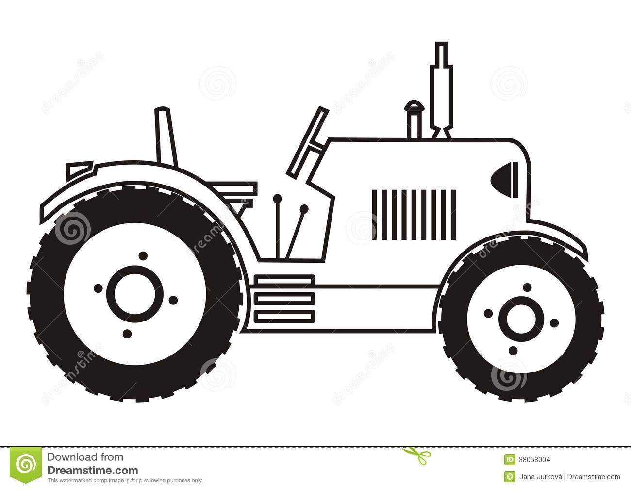 Animated John Deere Tractor Outline : Tractor coloring stock images image