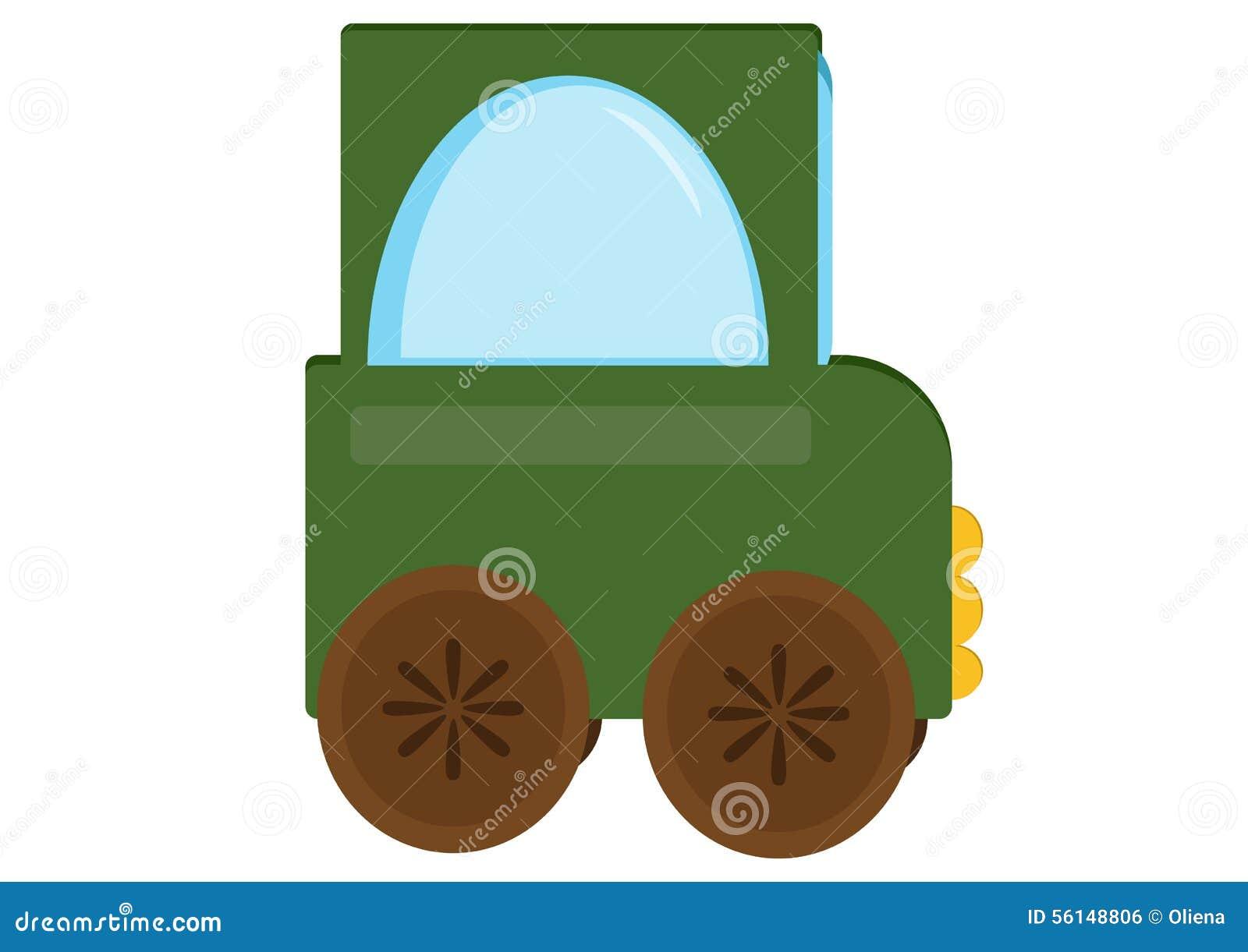 Tractor Del Coche Del Juguete Stock De Ilustracion Ilustracion De