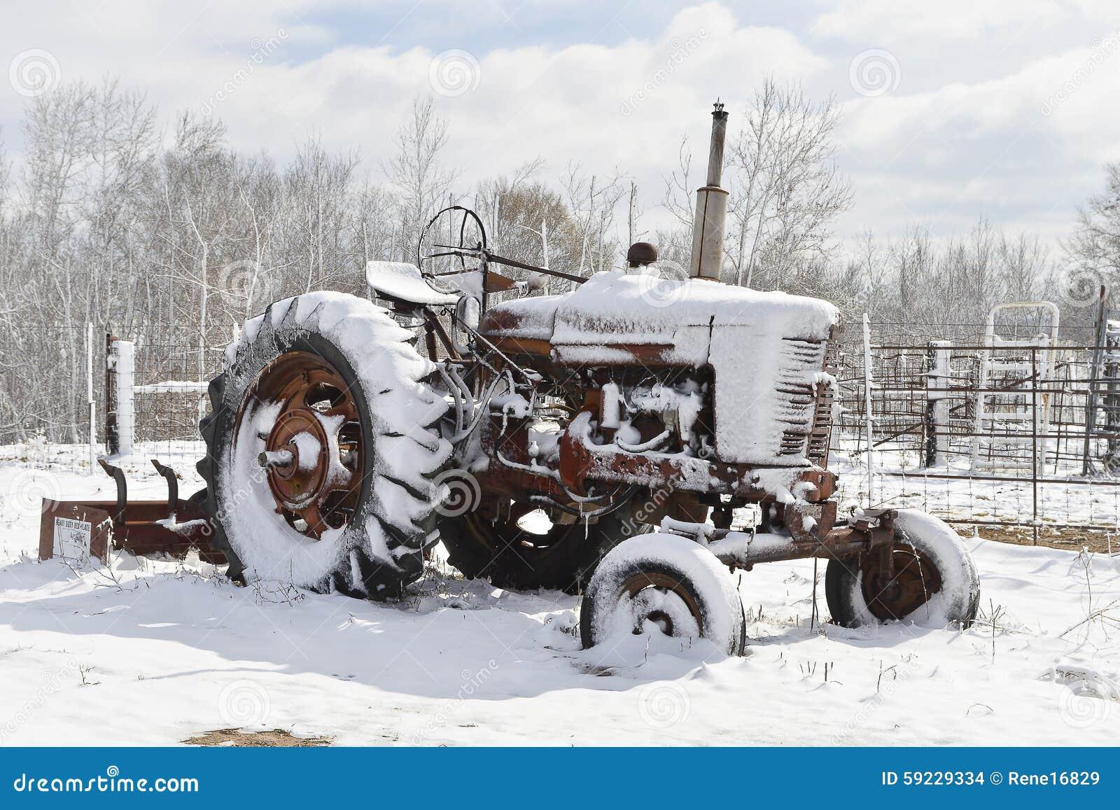 Tractor del país de las maravillas del invierno