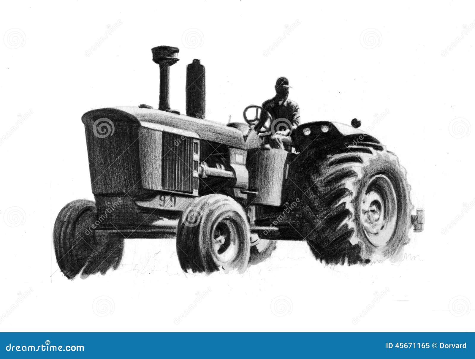 John Deer Tractor Stock Illustration - Image: 45671165