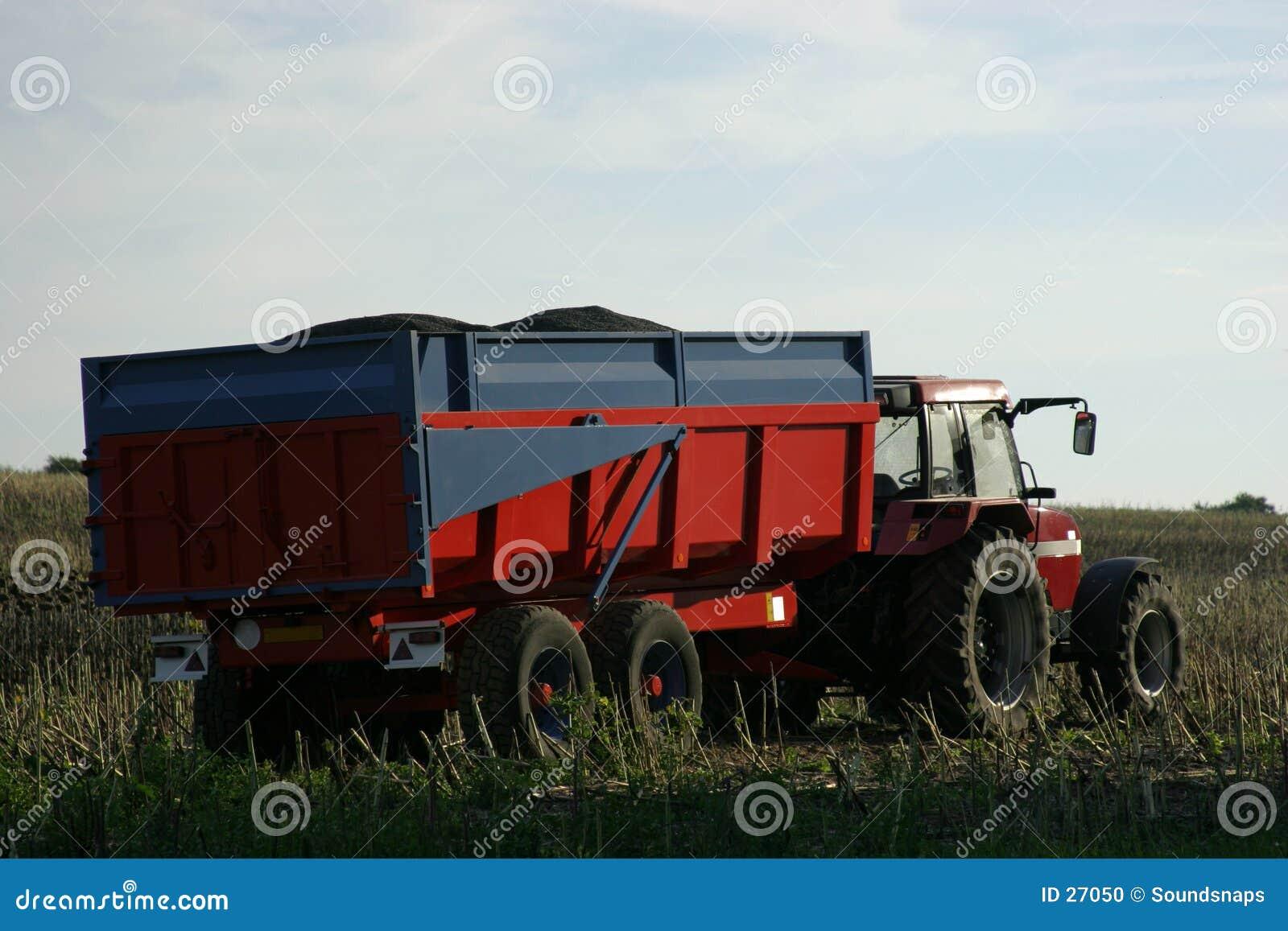 Tractor en Aanhangwagen