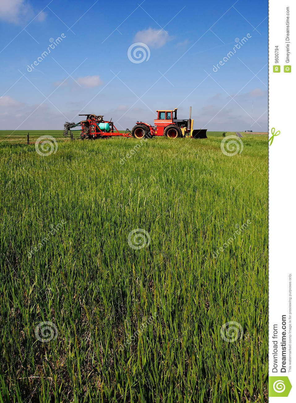 Tractor and Fertilizer