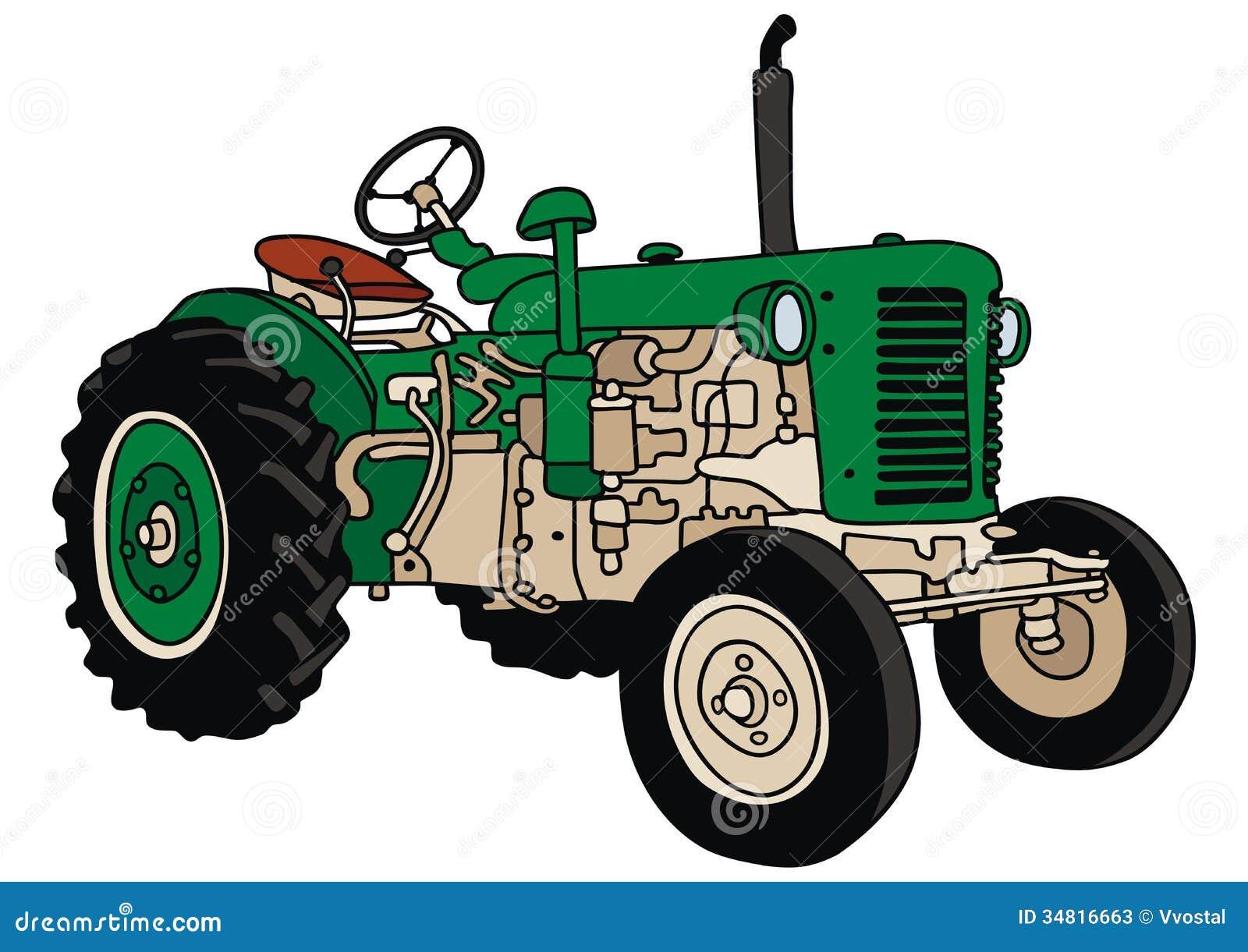 Vintage Tractor Cartoon : Tractor stock vector image of farm country cartoon