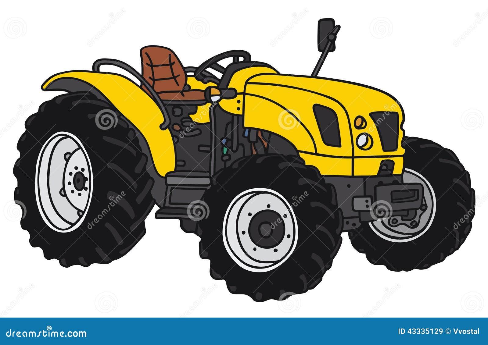 Small Tractor Cartoon : Tractor stock vector image