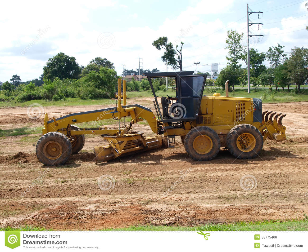 Royalty free stock image tractor heavy construction equipment