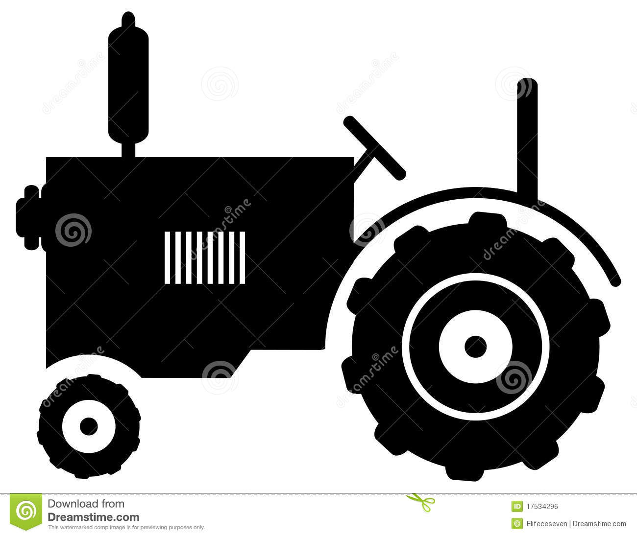 Tractor Icon Stock Vector Illustration Of Croping