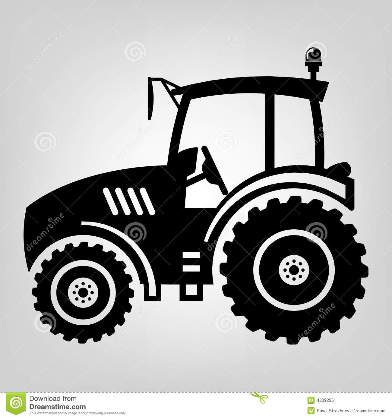 Tractor icon black vector macro farmer machine.