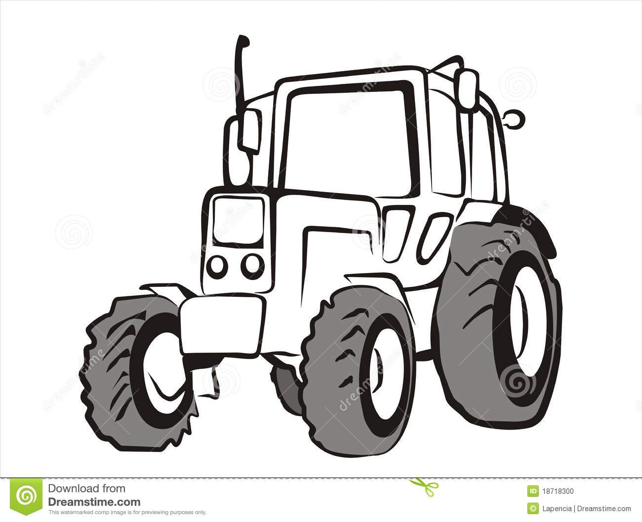 Tractor Pull Clip Art Vector : Tractor isolated vector illustration stock photo image