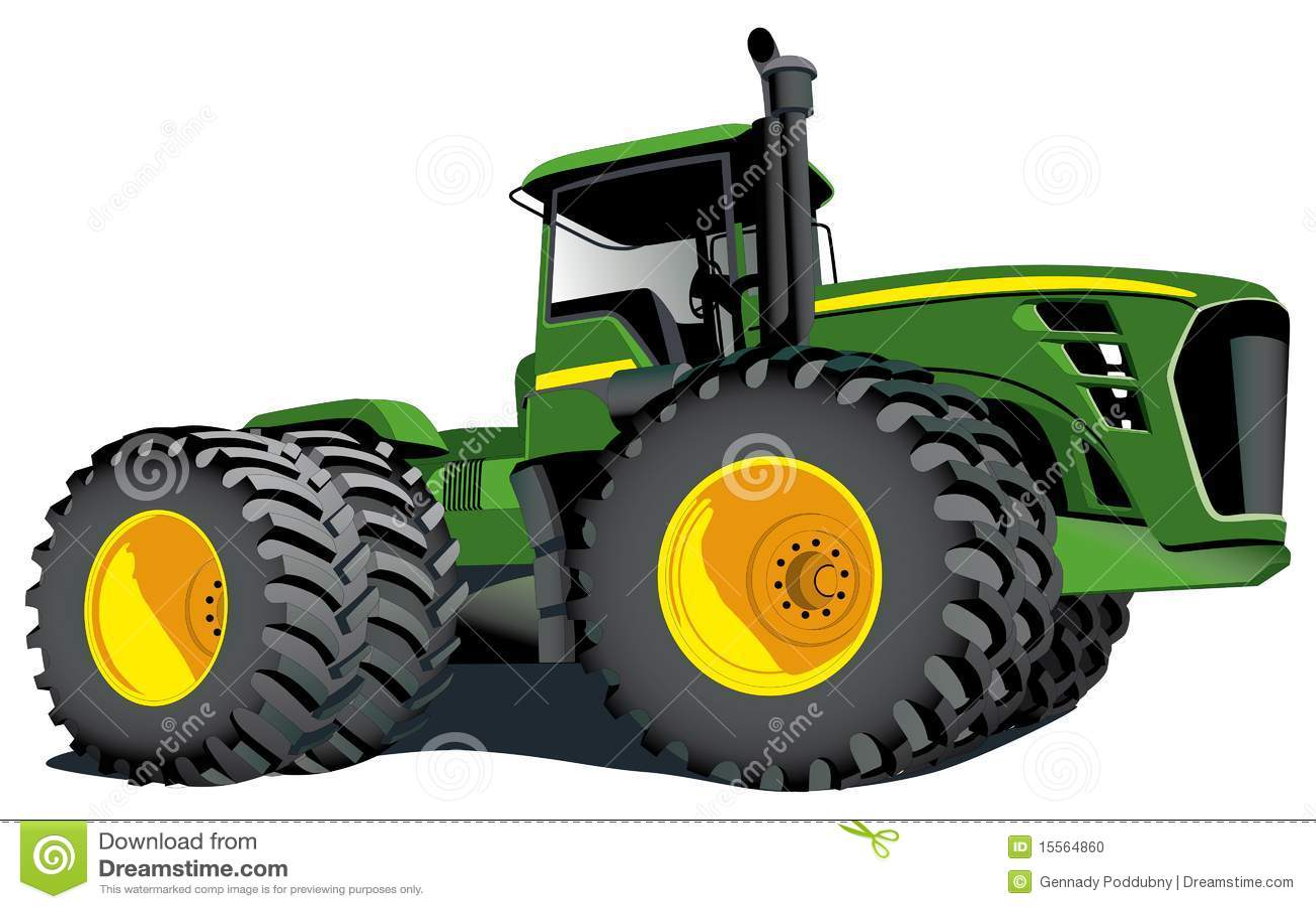 Muddy Tractor Clip Art : John deere