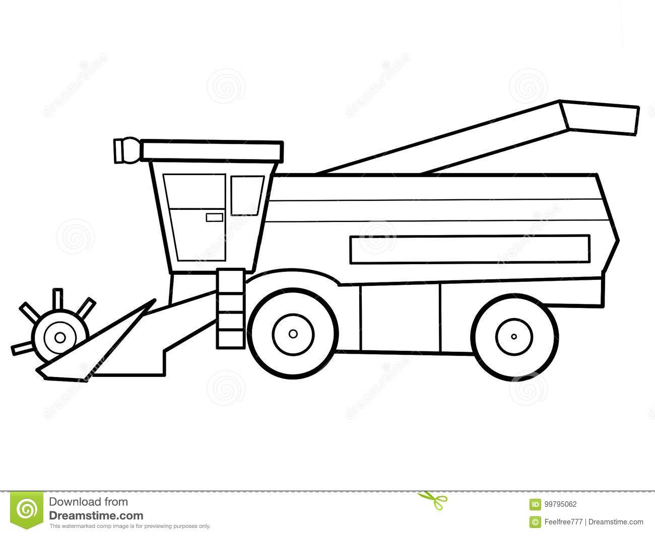 tractor kids educational coloring page picture you can see some geometrical elements perfect education