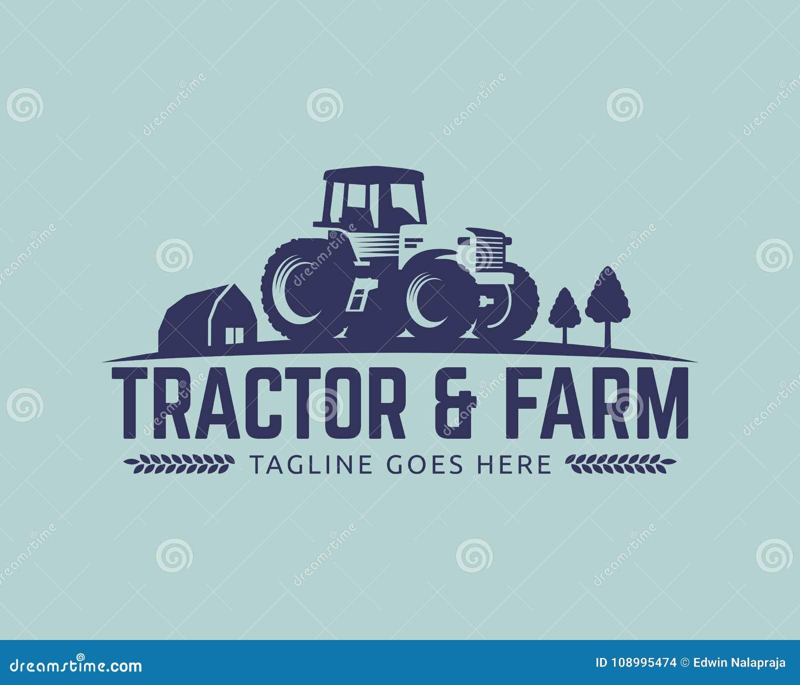 Tractor Logo Template Farm Logo Vector Stock Vector Illustration