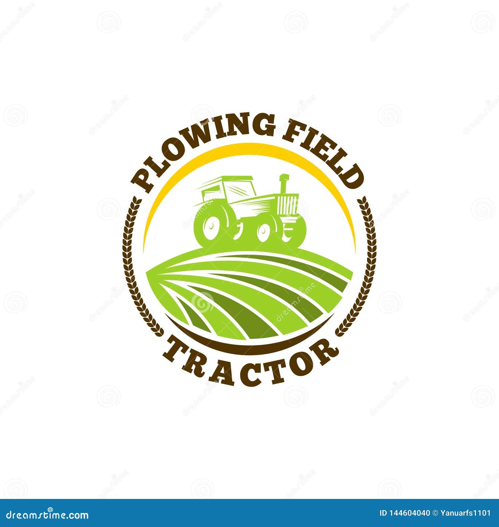 Tractor logo template vector. Tractor logo concept. Farming logo template