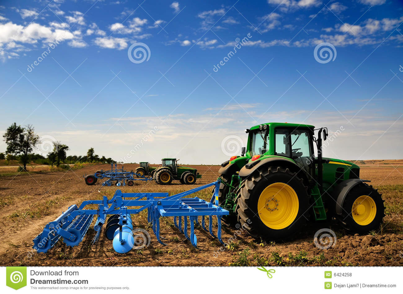 Tractor - Modern Agriculture Equipment Editorial Stock ...
