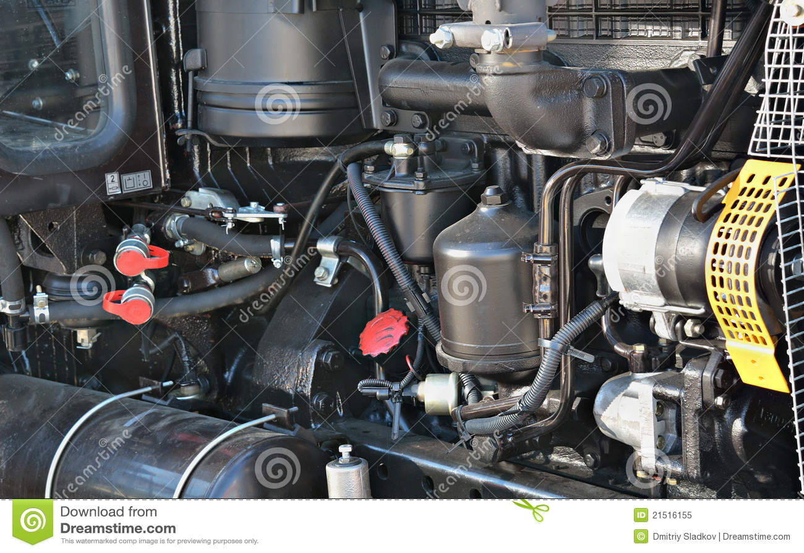 2 Motor Tractor : Tractor motor stock image of vehicle repair