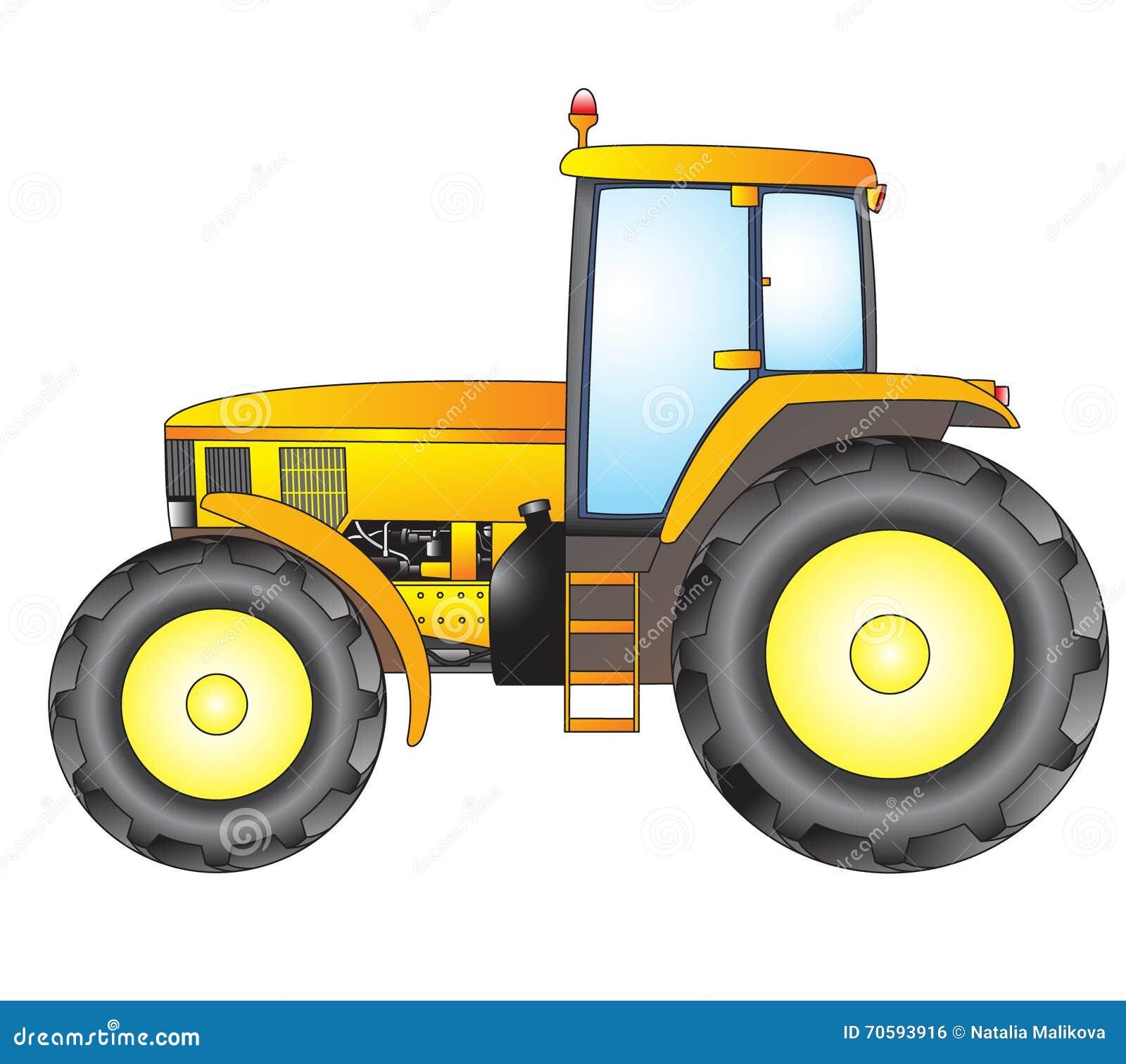 Tractor Object Vector Print Stock Illustration Illustration