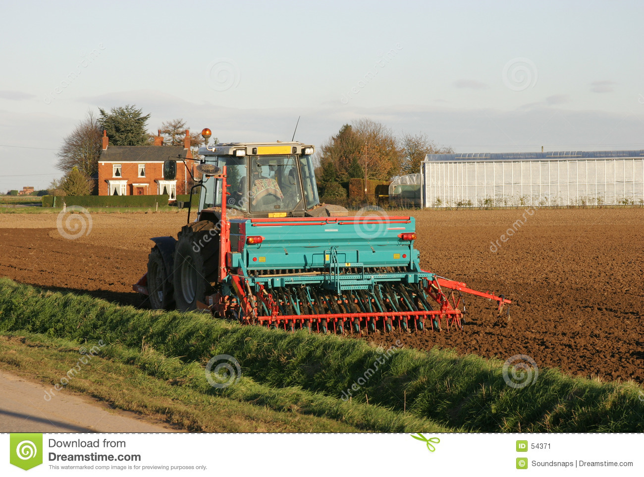 Tractor Ploughing Farm Field