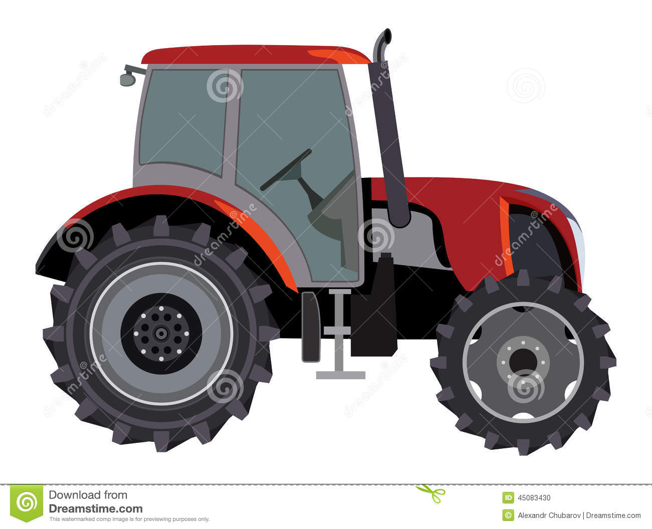 Side Picture Of Tractor : Tractor stock vector image of symbol industrial machine