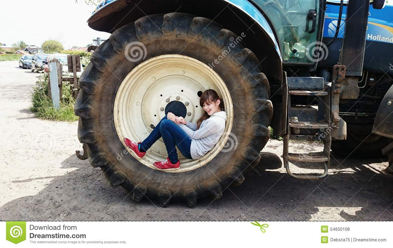 Tractor Seat Editorial Stock Photo Image Of Wheel Girl 54650108