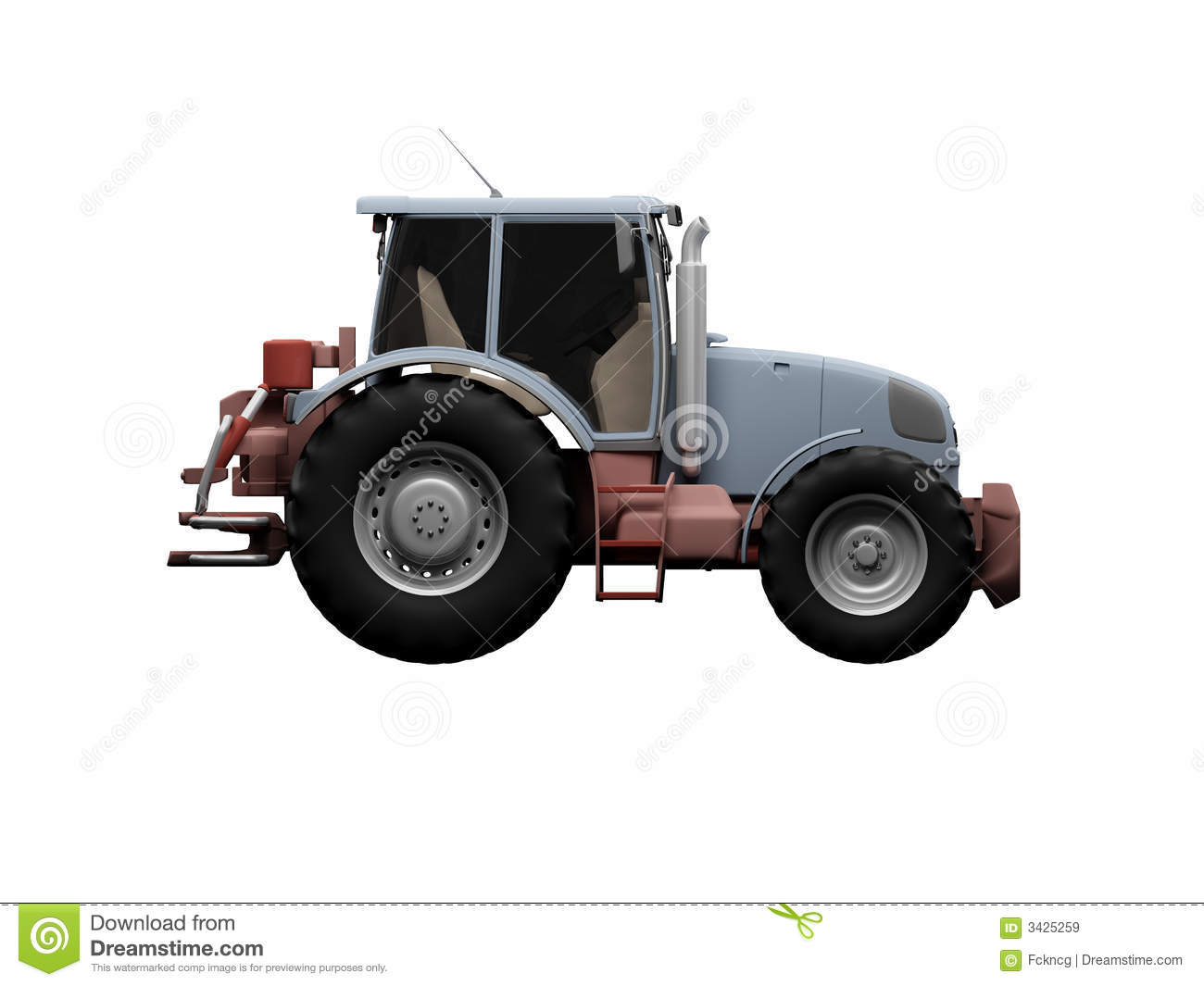 Side Picture Of Tractor : Tractor side view royalty free stock images image