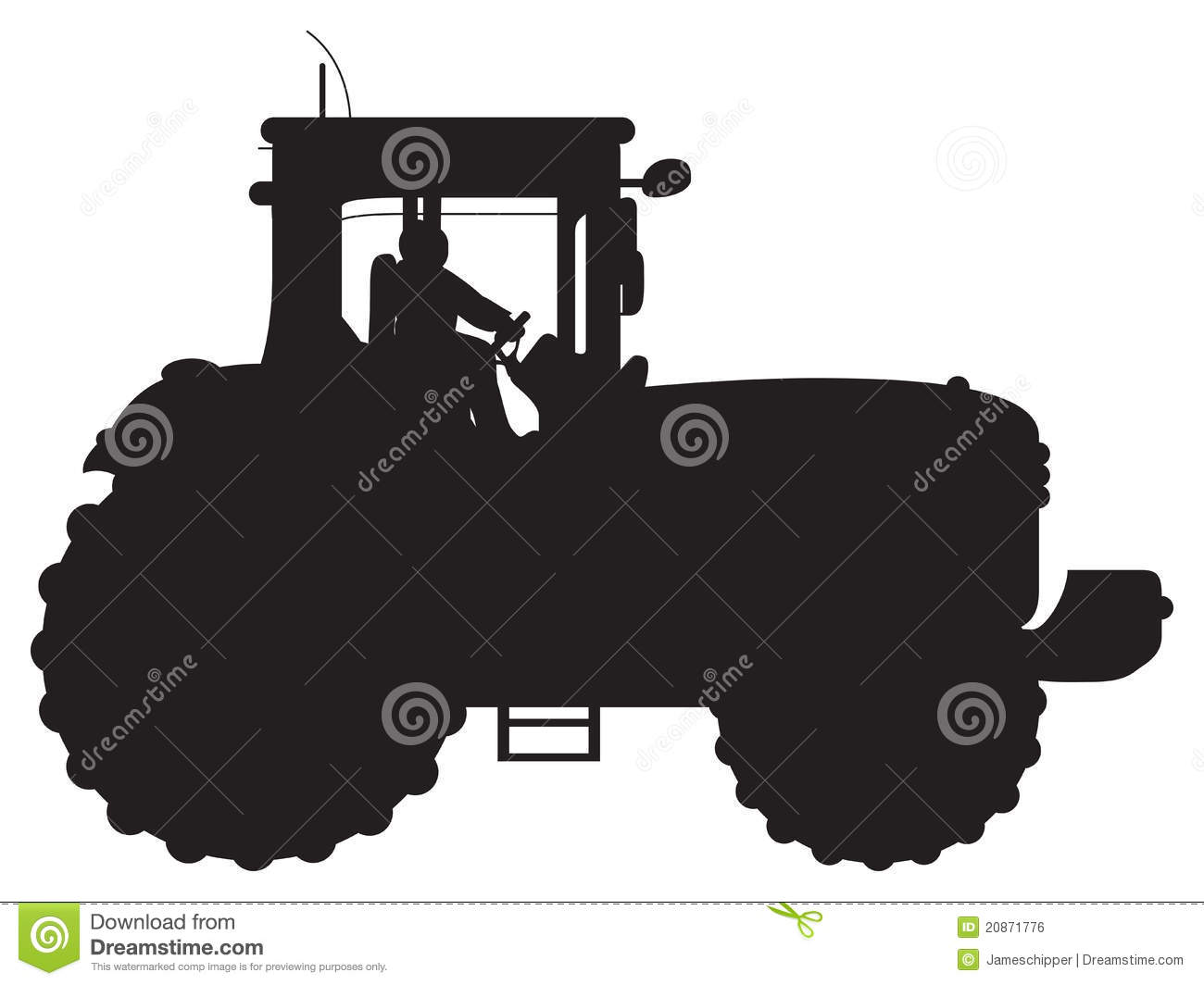 Tractor Silhouette Royalty Free Stock Image - Image: 20871776