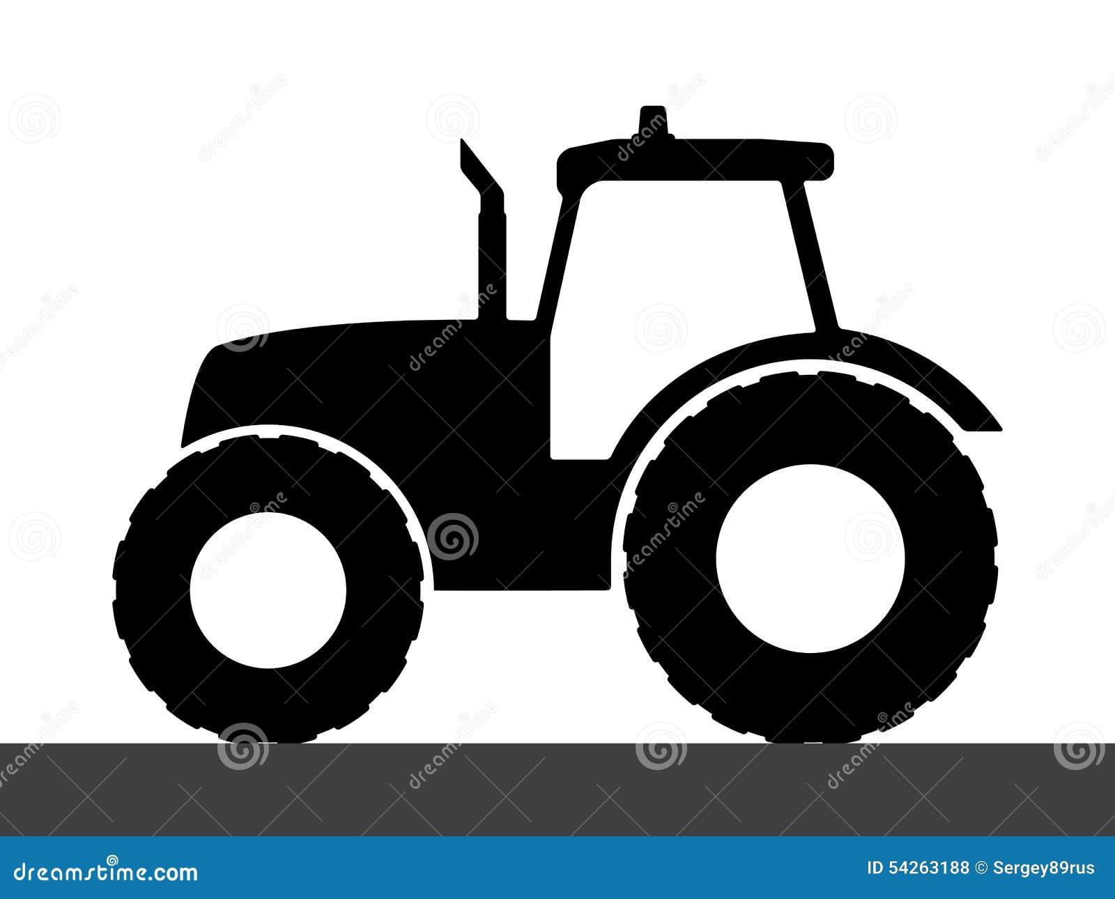tractor silhouette on a white background stock vector john deere clip art black white john deere clip art black white