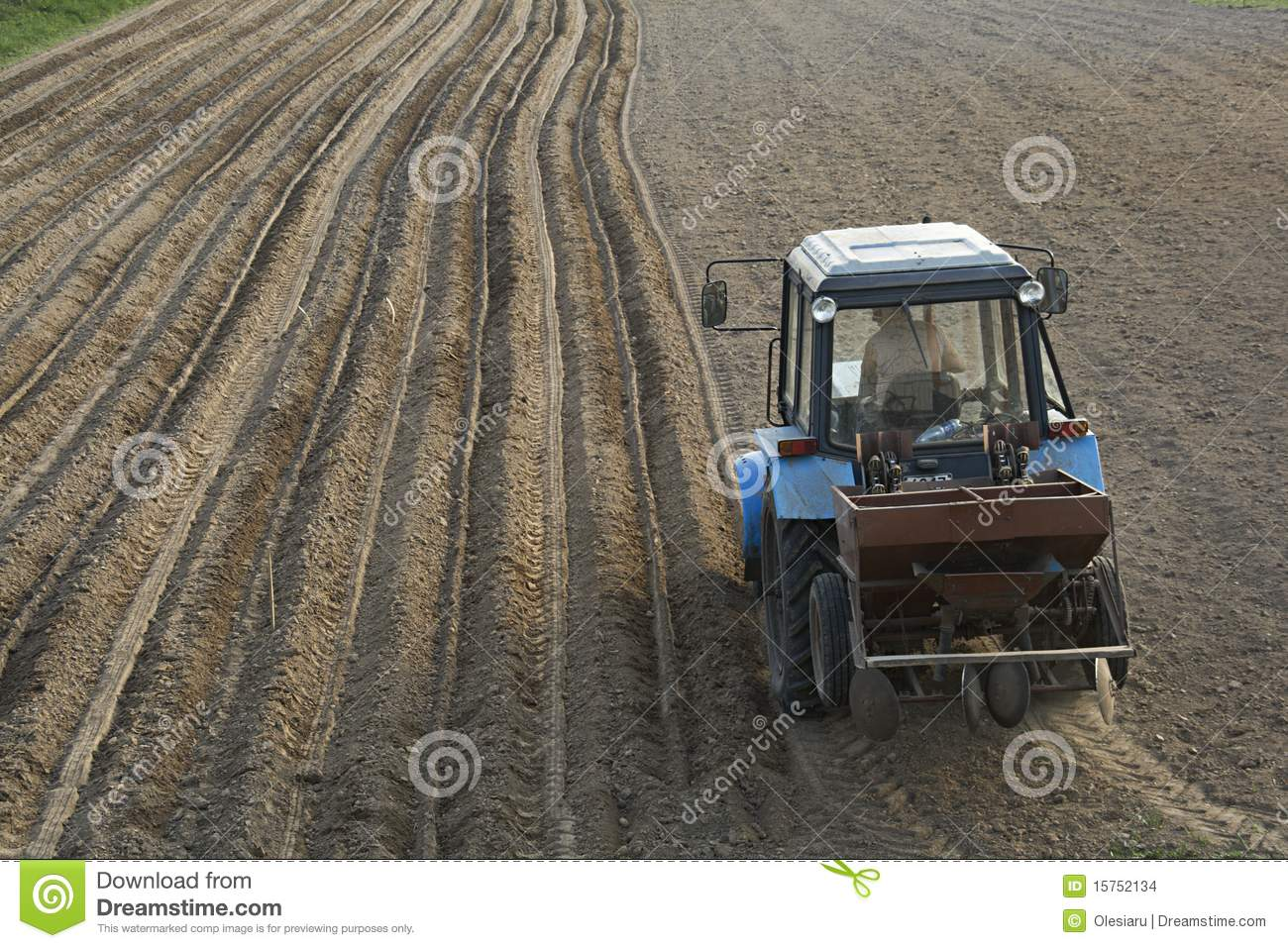 Tractor with sowing machine