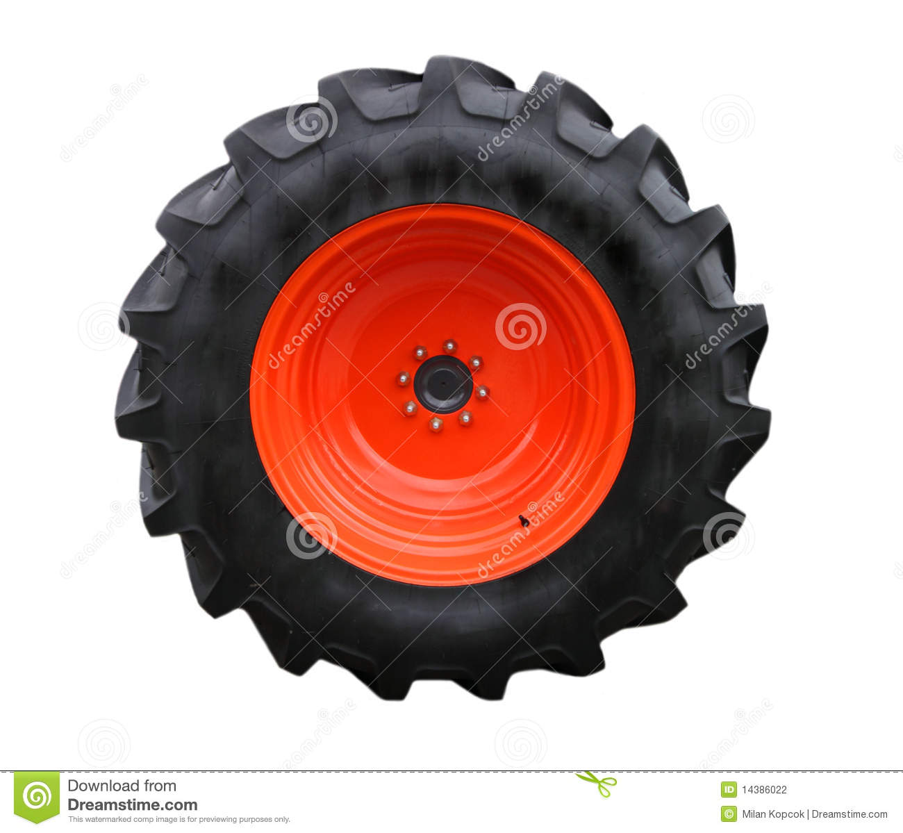 Tractor tire stock photography image 14386022 for Big tractor tires for free