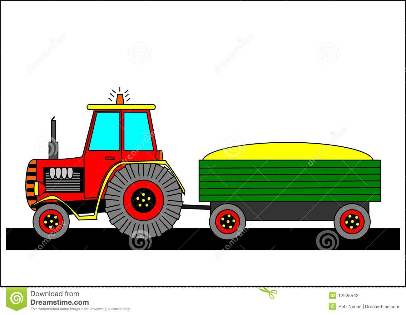 Tractor Tow Hooks : Tractor and tow vector illustration cartoondealer