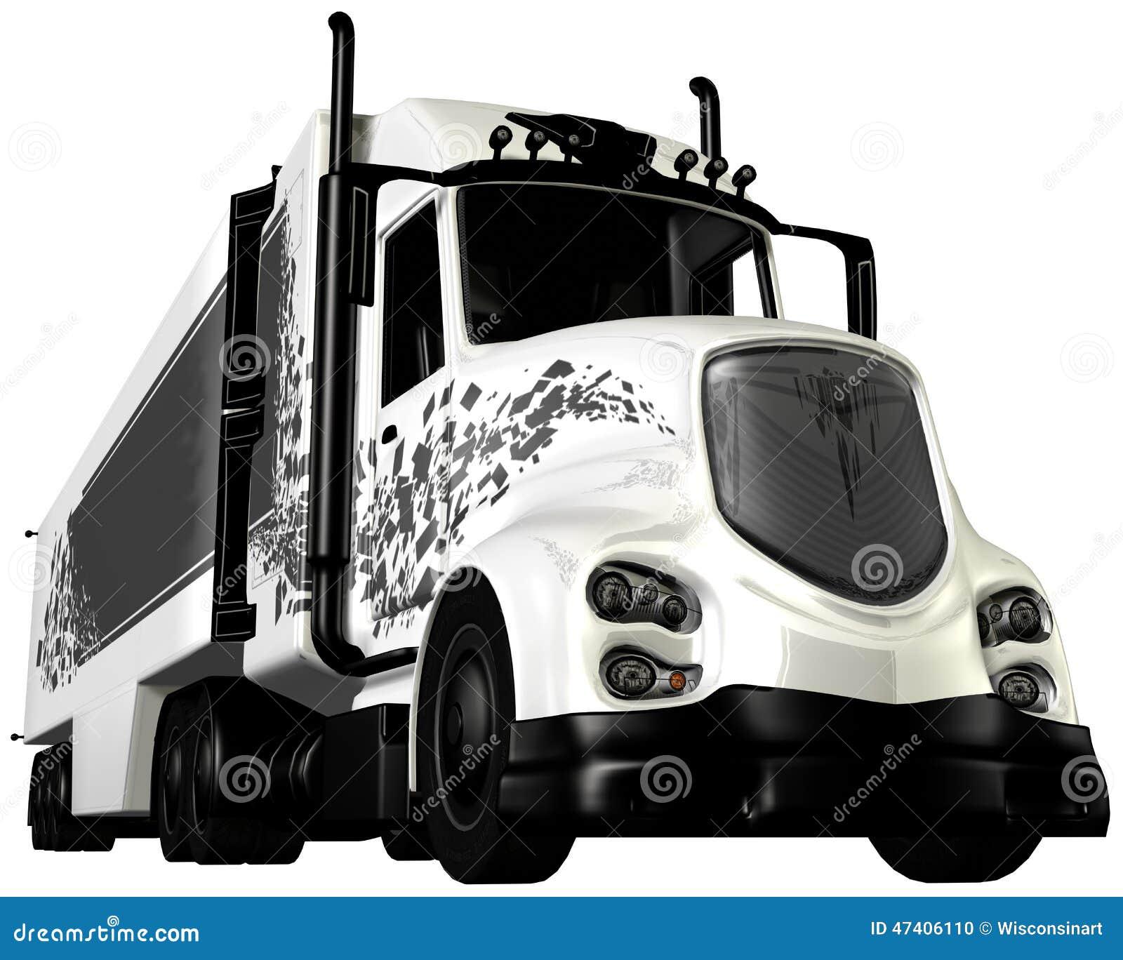18 Wheeler Prices >> Tractor Trailer Cab 18 Wheeler Stock Illustration - Image: 47406110