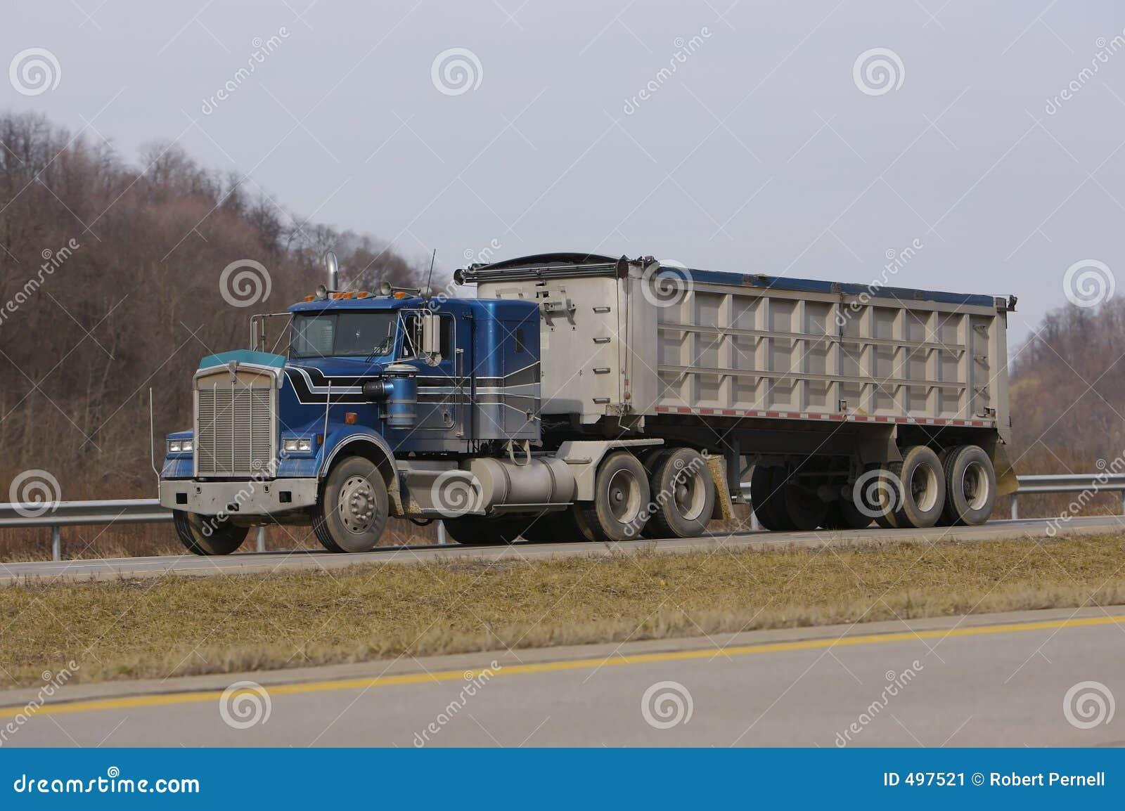 Tractor Trailer Dump Truck Stock Image Image Of Dumptruck