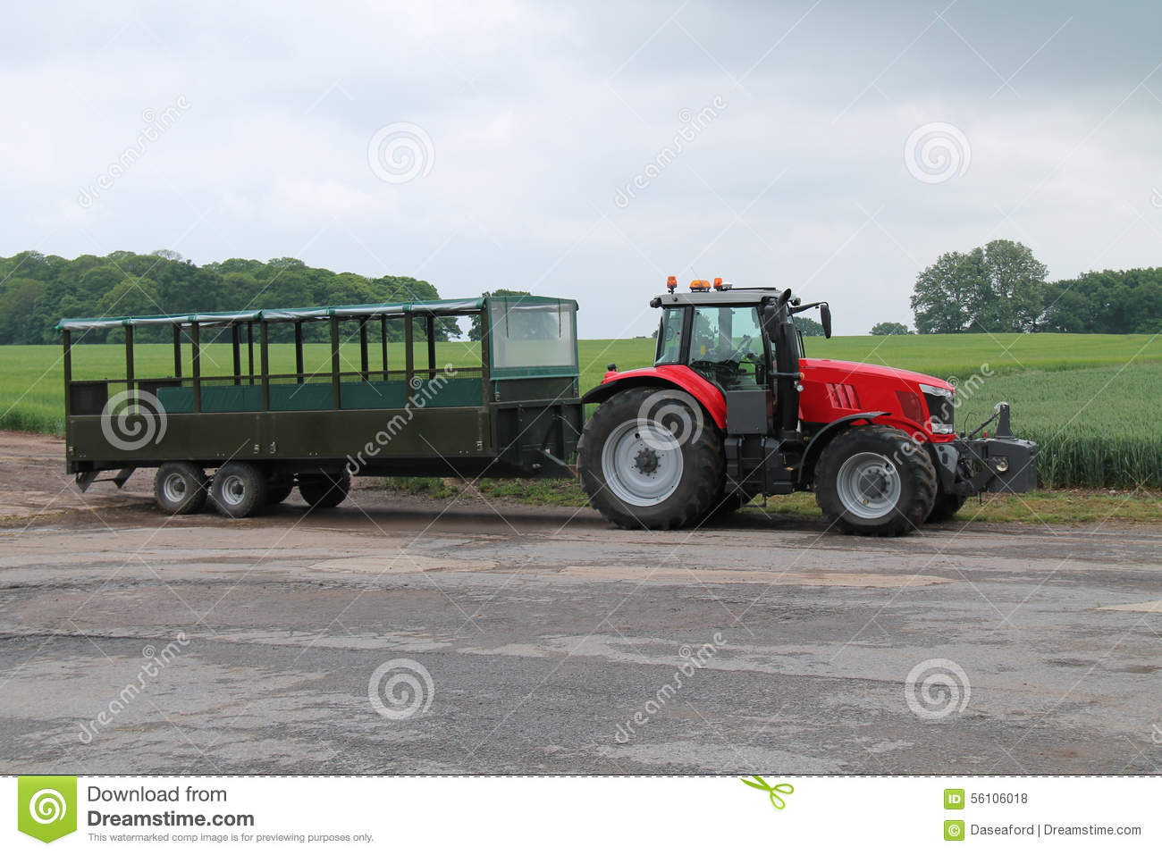 Tractor Trailer Stock : Tractor trailer stock photo image of personnel