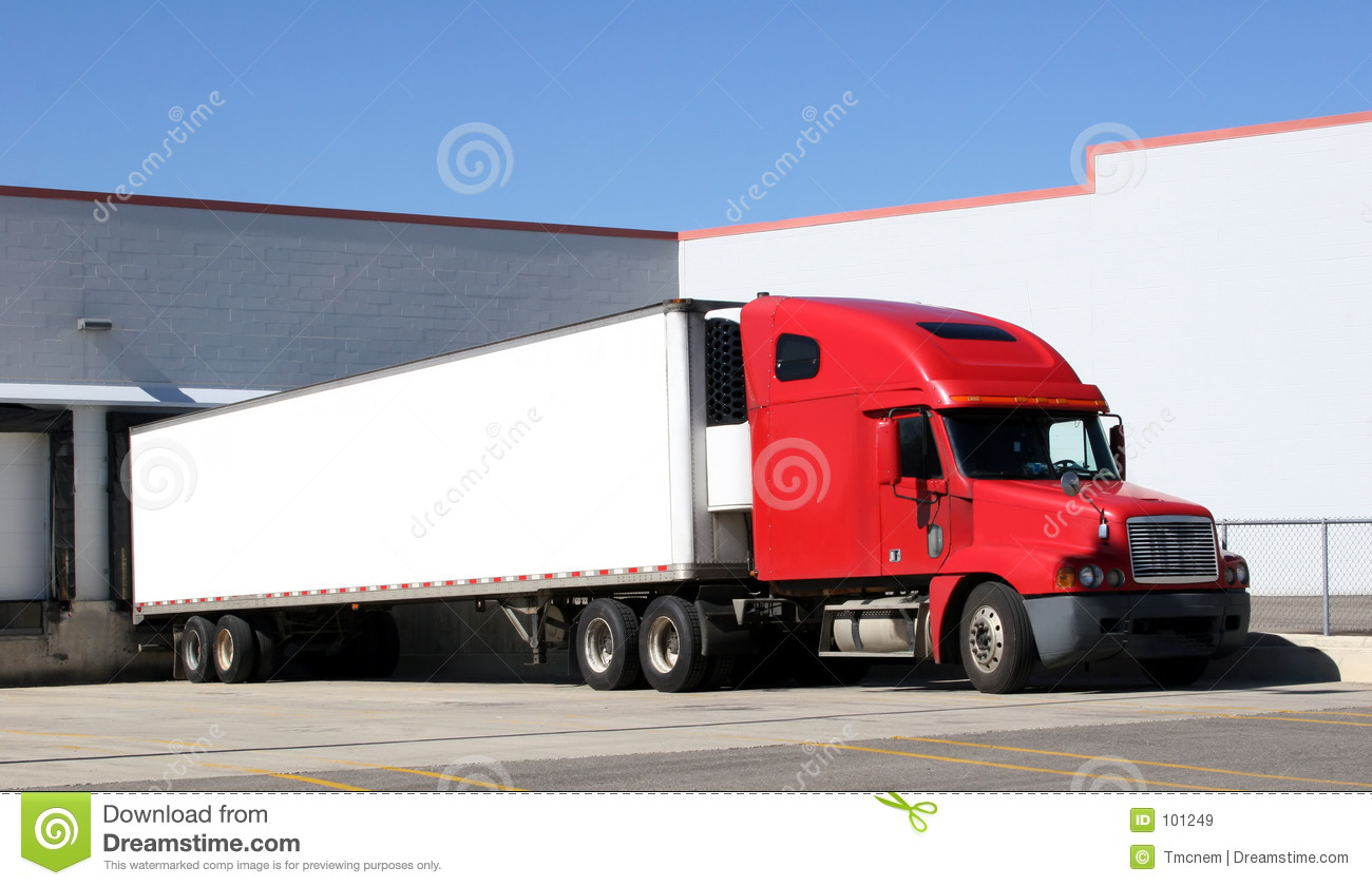 Tractor Trailer Stock : Tractor trailer truck stock image of haul carrier