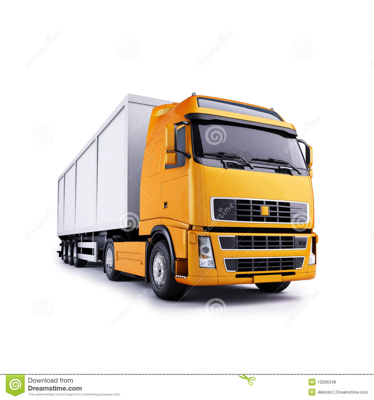 Tractor Trailer Stock : Tractor trailer truck stock illustration image of