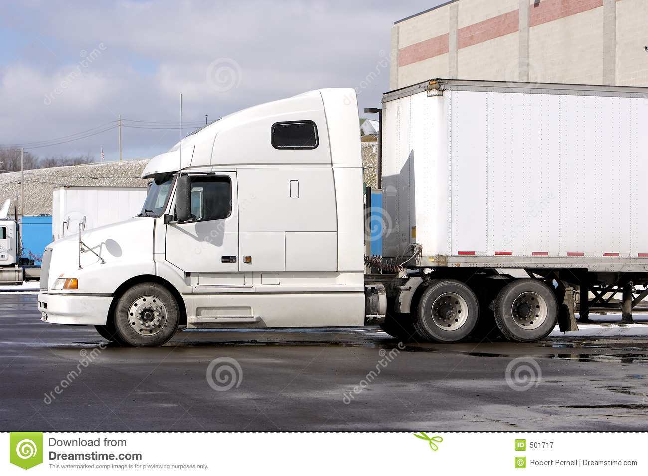 Tractor Trailer Stock : Tractor trailer truck royalty free stock photography