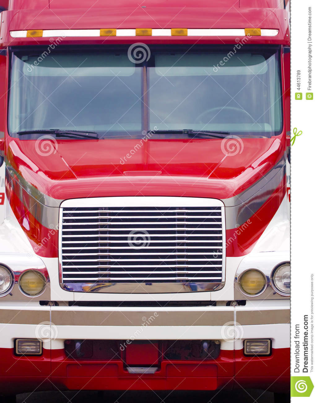 Tractor Trailer Head On : Tractor trailer truck head on stock image of