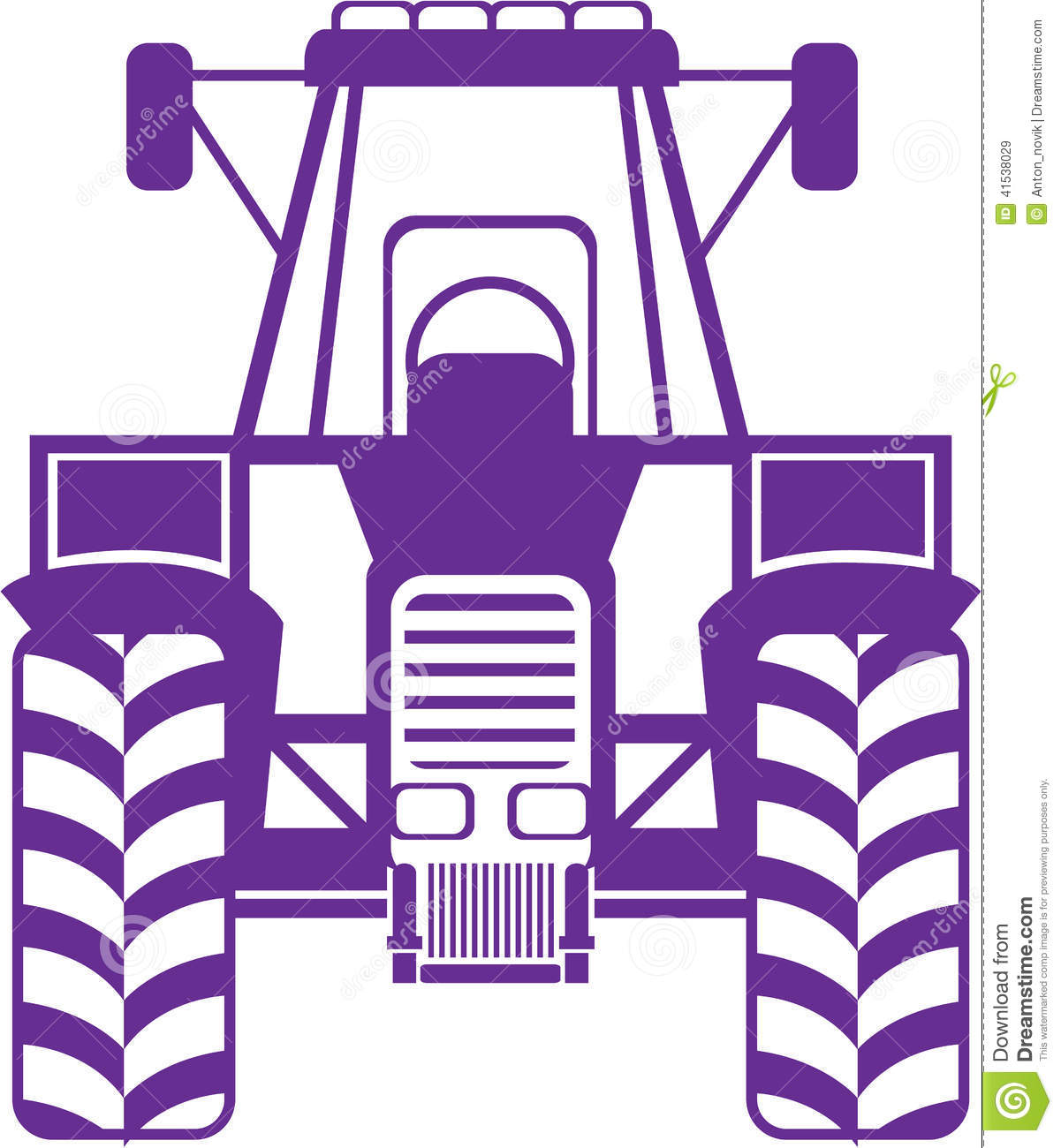 Tractor Pull Clip Art Vector : Tractor vector front stock image